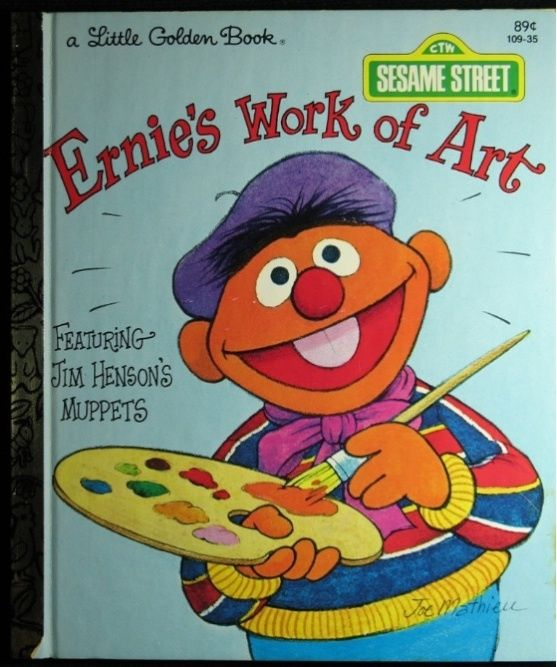 SESAME STREETS ERNIES WORK OF ART LITTLE GOLDEN BOOK