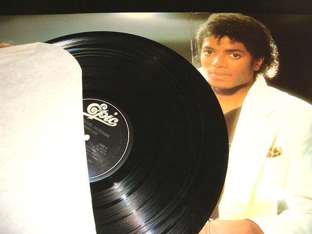 Michael Jackson Thriller Album + Liner +Litho Signature