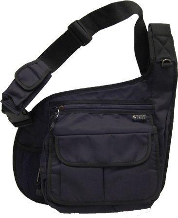 Black Messenger Bag Crossbody Shoulder Travel iPad Netbook Bag