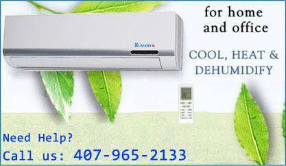 Ductless Air Conditioner Mini Split AC & Heat Pump, A/C + Dehumidfier