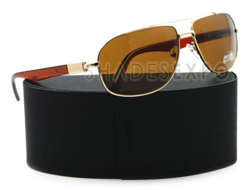 NEW Prada Sunglasses SPR 57N BROWN ZVN 8C1 SPR57N AUTH