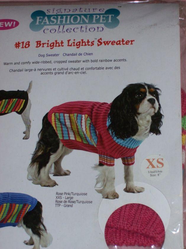 Pet Dog Cat Sweater Coat Shirt Clothing XXS XS NEW~UPic