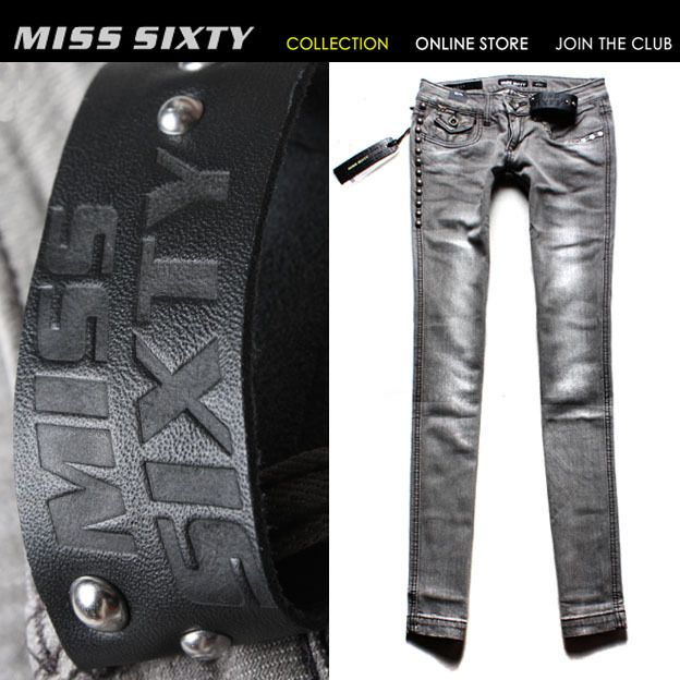 NEW HOT Stunning Gray Rivet MISS SIXTY Lady Cool Jeans