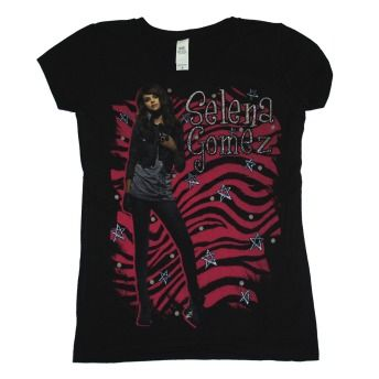 Selena Gomez Singer Zebra Soft Juniors Girls Youth T Shirt Tee