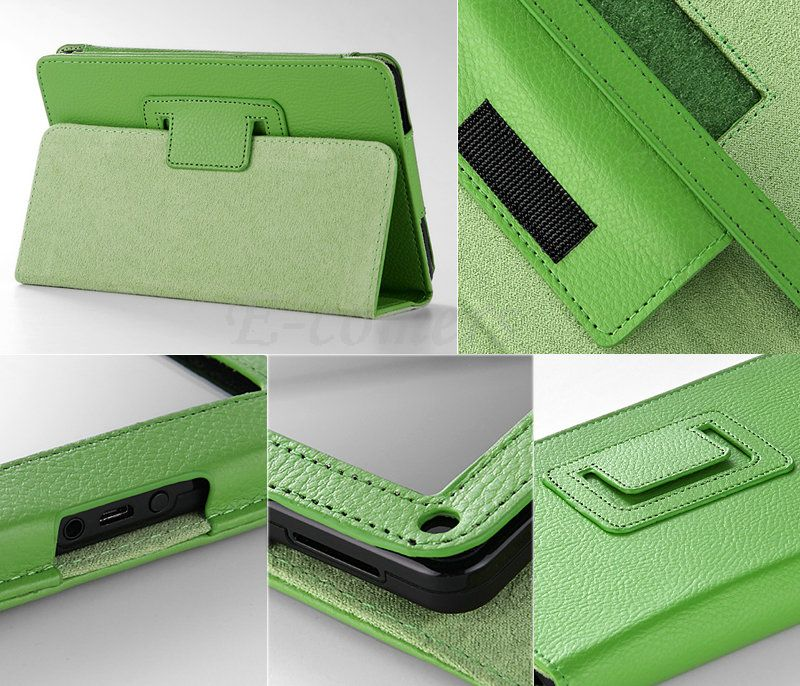 For Kindle Fire Folio Case Cover/Car Charger/USB Cable/Stylus/Earphone